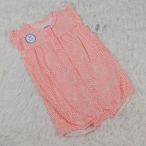 NWT Carters Baby Girl Kitty Cat Romper Pink White